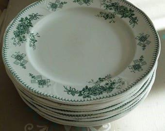 Magnificent plates vintage Boch de la Louvière