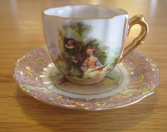 Hand painted Demitasse-Espresso Cup - Item #1554