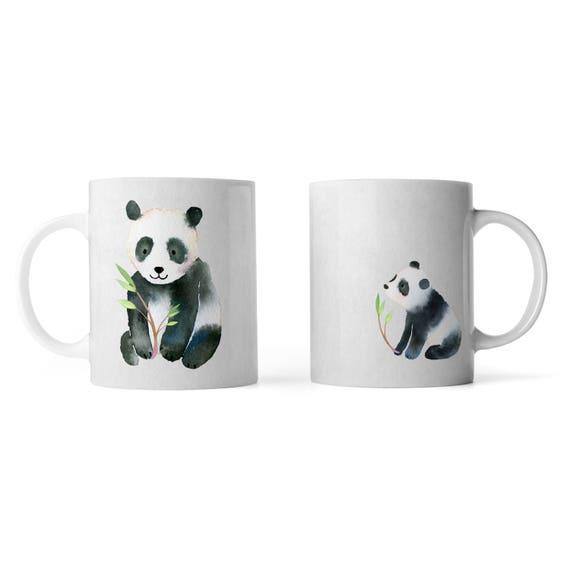 Cute pandas watercolor mug - Funny mug - Rude mug - Mug cup 4P110