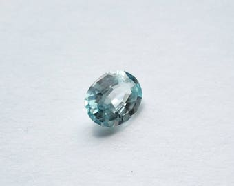 blue zircon, blue zircon 1.5 ct, blue zircon VVS clarity, genuine loose gemstone, oval VVS blue zircon gem, 9 mm x 7 mm x 4mm, zircon gem