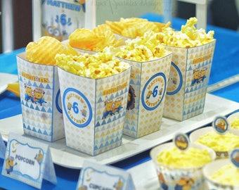 Cartoon Popcorn Boxes