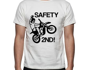 Safety 2nd Motorcycle Tee Shirt Design, SVG, DXF, EPS Vector files for use with Cricut or Silhouette Vinyl Cutting Machines