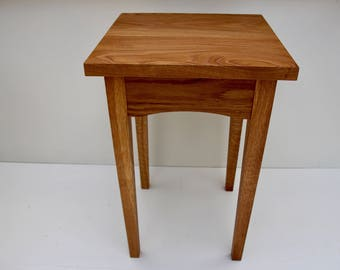 end table handmade side table white oak end table wooden end table