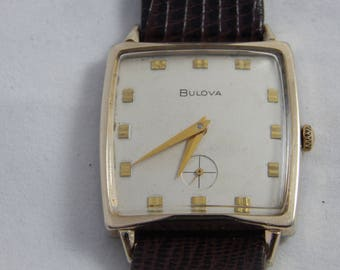 Vintage Bulova 10 Kt Dress Watch 21 Jewels 1967