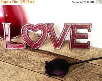 ON SALE Cast Iron Love Sign - Valentines Day Decor - Love Wall Decor - Valentines Day Gift For Her - Gallery Wall - Girls Room Decor - Girl