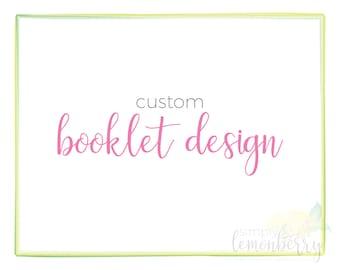 Custom Booklet Design | Ad Journal | Event Program | Souvenir Journal | Multi-Page Brochure | DIGITAL FILES ONLY