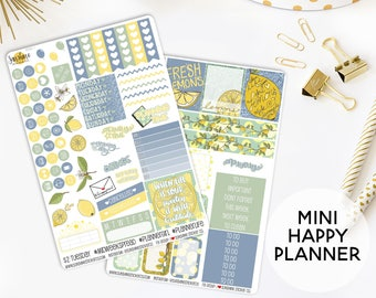 Lemonade Planner Sticker Kit | Made to fit the Mini Happy Planner