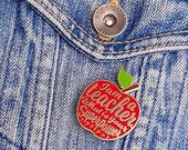 Teacher enamel pin | Teacher gift idea  | Appreciation gift | Gift for teacher | National teacher day  | Apple Lapel pin