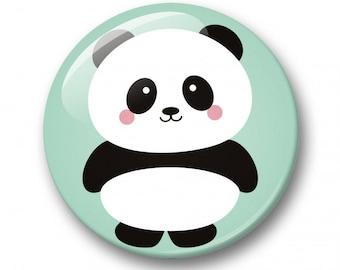 Panda kawaii badge 32mm | Cute kawaii panda pin back button | kawaii pin badge  | kids party | Gift Party Favor | panda Accessory |