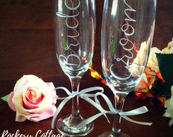 Personalised prosecco glass, custom champagne flute, prosecco gift, prosecco lover, champagne glass, hand engraved glasses, gift for her