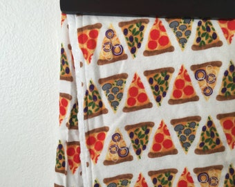Pizza minky crib blanket