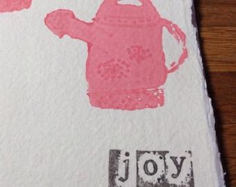 Joy - portrait watering cans notebook/sketchbook