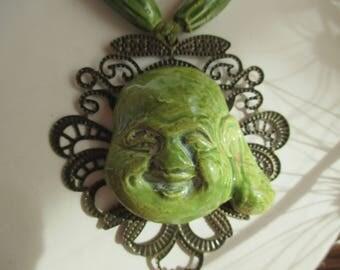 Buddha happy ceramic - OOAK - FRANCE