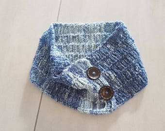 Scarf, New Zealand, Wool cowl, Winter cowl, Made in New Zealand, Gift, Neck warmer, Blue scarf, Hand Made. Womans accessories