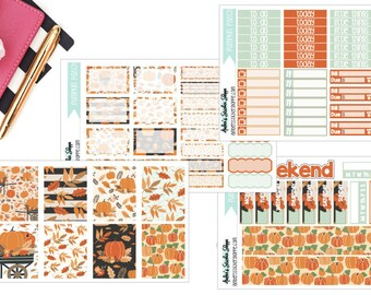 Pumpkin Patch Weekly Kit for ECLP Vertical Planner Stickers