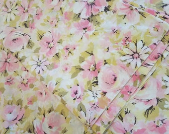 Pink and yellow rose/floral pillowcases free shipping U.S only