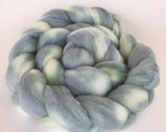Spinning Fiber In Merino Hand dyed Blues and Greens