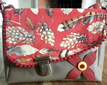 Bag retro feathers