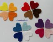 250 Small Felt Hearts A , color -13 (Reserved to Johanna )