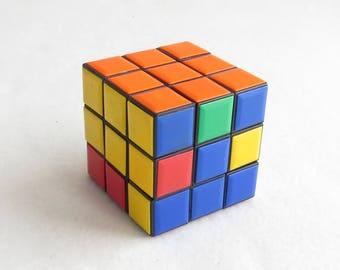 Soviet Vintage Rubik's Cube Soviet 3D Puzzle, Logic Game, Travel Game