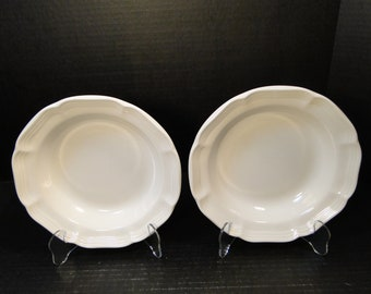"TWO Mikasa French Countryside Soup Bowls 8 1/2"" White Salad F9000 Set of 2 EXCELLENT!"