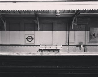 London Underground Print, Minimal Print, Harlesden, Minimal Photography, Minimal Decor, Fine Art Photography, Fine Art Print, Wall Decor Art