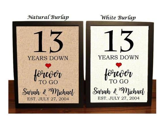 13th Year Wedding Anniversary Gift: 13th Anniversary Gift 13th Wedding Anniversary Gift Gift