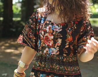 Longue robe bohème  imprimé fleuri