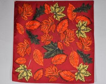 Echo silk scarf, designer silk scarf, vintage silk scarf