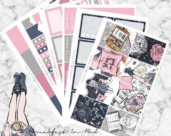 Breakfast In Bed | Planner Sticker Kit MATTE | Erin Condren Vertical Weekly Planner Kit