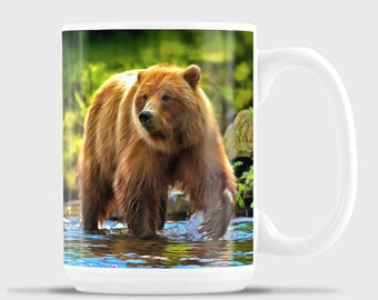Grizzly in the Stream
