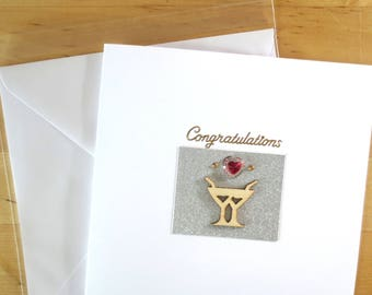 Congratulations card,  Wedding congratulations card, Wedding card, Wedding congratulation, greeting card  handmade