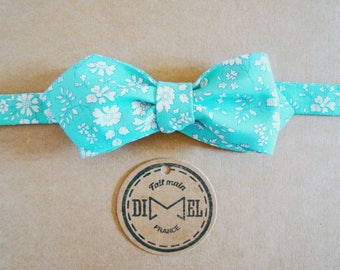Bow tie adjustable turquoise liberty to order
