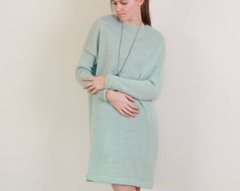 One size dress, oversized sweater, knitted sweater, loose knit sweater, loose knit dress, loose pullover, Bohemian Dress, Slouchy knit dress