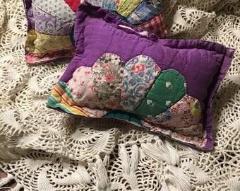 Purple Dresden Quilted Pillow/ Girl Posing Pillow/ Newborn Posing Prop Pillow