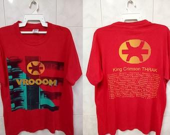 VINTAGE 90s KING CRIMSON Vrooom Thrak / English rock band / Progressive rock / World Tour 1995 Robert Fripp tee t-shirt