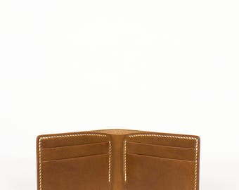 Bifold Wallet, Leather, Buttero, Hand Stitched, Men's Wallet, Made in America