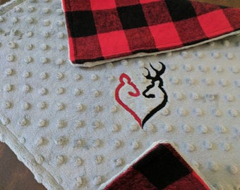 Buffalo Plaid Lovey, Personalized Baby Gift, Buffalo Plaid Baby Shower, Buffalo Plaid Nursery, Valentine Baby Blankie, Buffalo Check Nursery