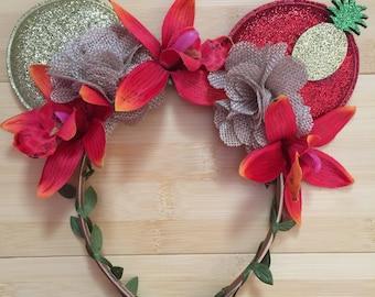 Moana inspired minnie ears headband crown, Moana birthday, Moana baby, Moana birthday party, Moana headband, Moana hairband, Moana ears, RTS