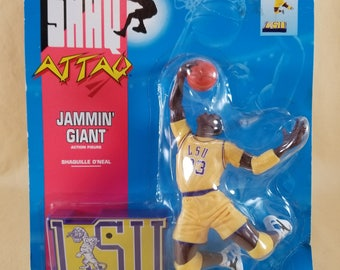 80's Toy ~ SHAQ Attaq Figures ~ LSU Tigers ~ Jammin Giant ~ Shaquille O'Neal ~ Action Figure ~ Kenner ~ Tonka Toy ~ Seths Vintage Emporium