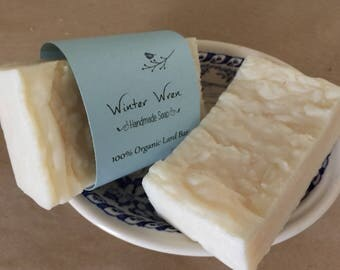 Organic Lard Soap Bar--Unscented