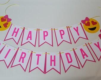 Emoji Banner - Emoji Birthday party - Emoji decorations - Emoji party -Emoji - Emoji Party Decor -Emoji Birthday Banner