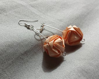 Origami earrings Japanese modular jewelry