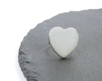 Ring concrete large heart made of concrete-concrete jewelry in silver ring version heart jewelry Valentine's Day grey concrete Jewelry