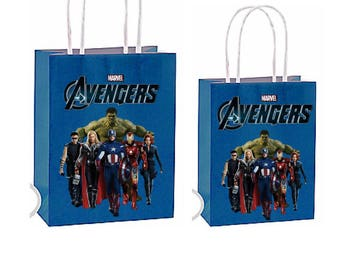 Avengers party favor bags ~Avengers birthday party Decorations & Decor instant download