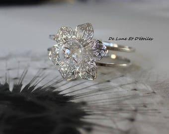 Dandelion glass globe bracelet