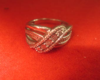 O-19 Vintage Ring size 9 1/2 925  silver