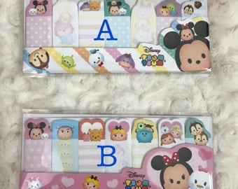 Disney Tsum Tsum sticky flag memo note (choose from 2 styles)