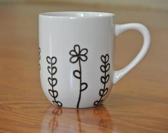 Flower Field Coffee Cup