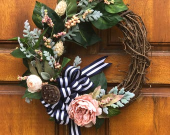 """The """"Blushing in Stripes"""" Wreath"""